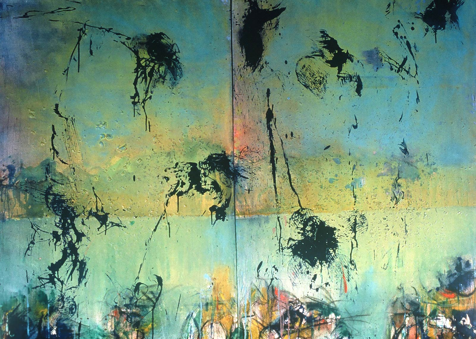 Bird-Path-1986-Acrylic-on-canvas-diptych-72-x-105