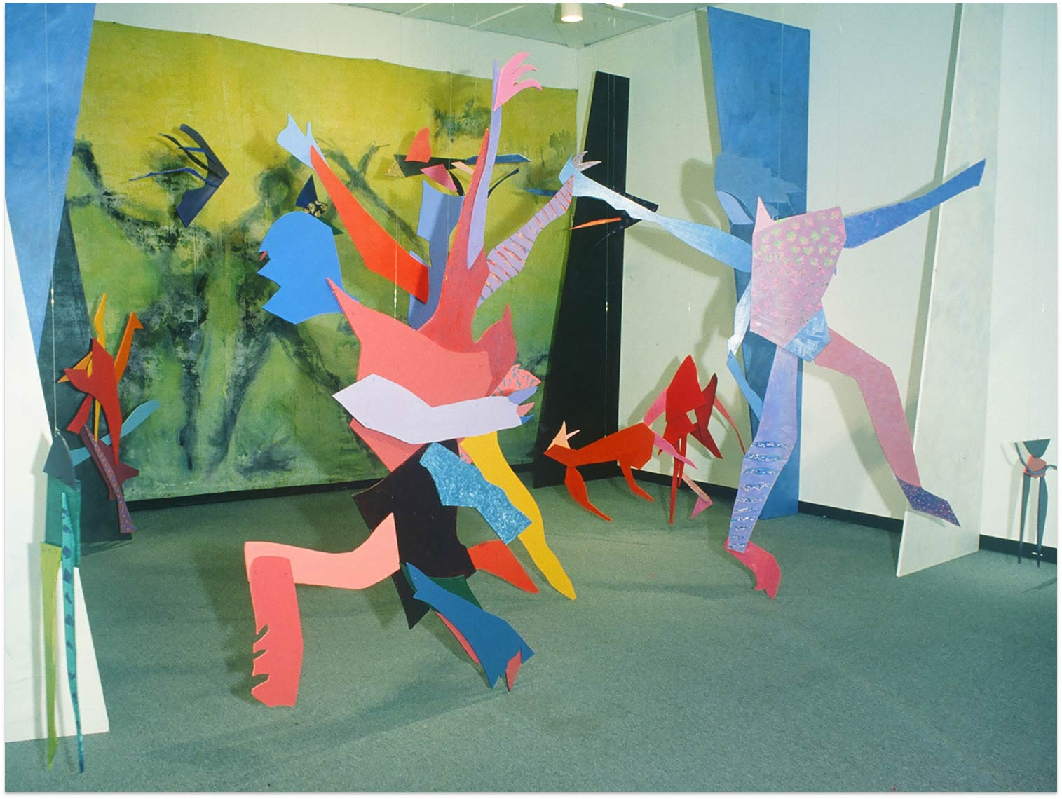 Dream-dance-1985-Installation-Surey-Art-Gallery-Surrey-BC