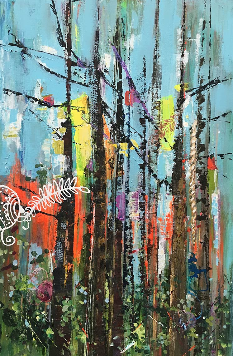 Eclectic-Electric-Forest-2016-Acrylic-on-canvas