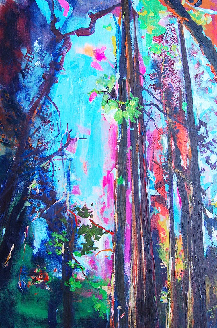 Electric-Forest-2016-Acrylic-on-canvas-48-x-36
