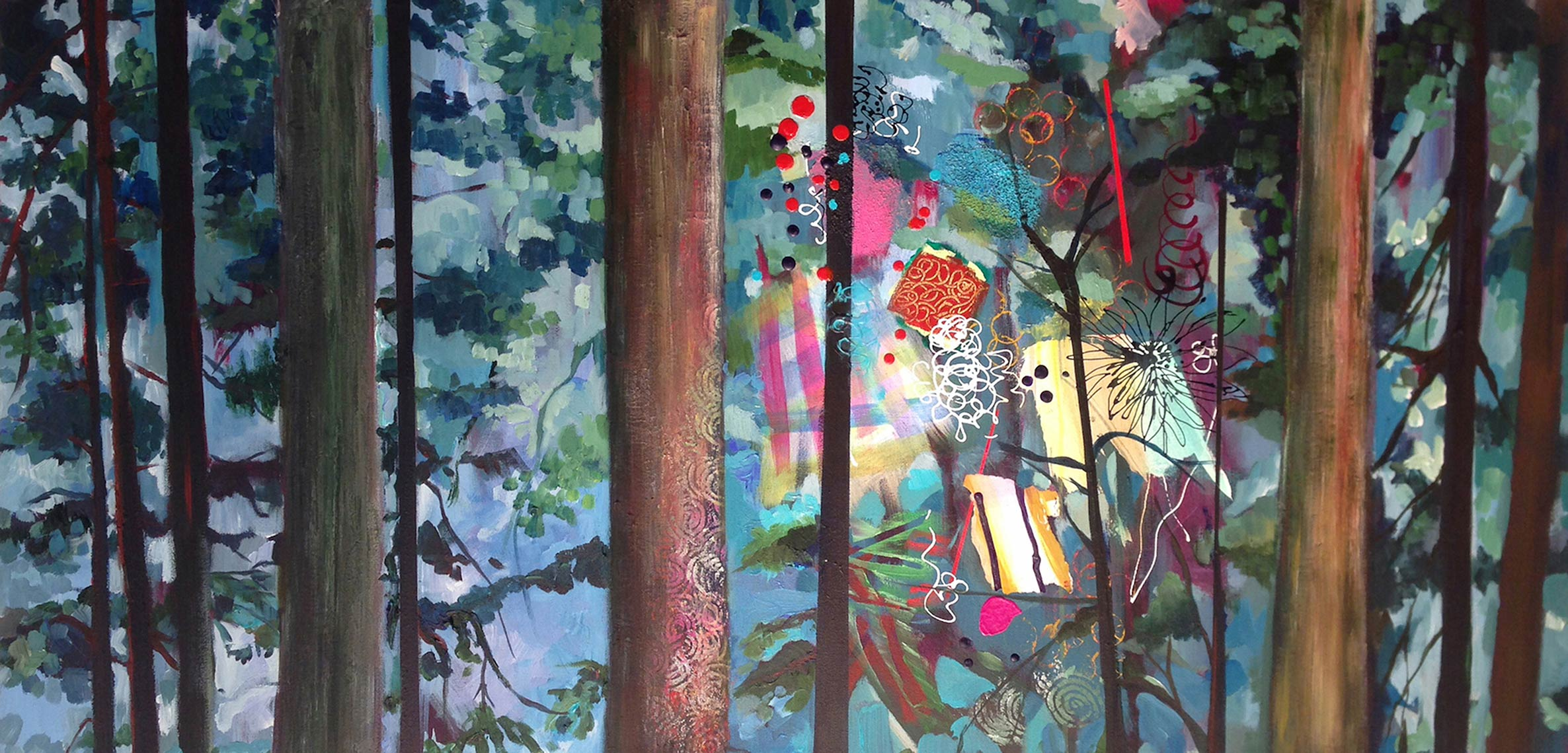 Enchanted-Forest-2016-Acrylic-on-canvas-24-x-48-
