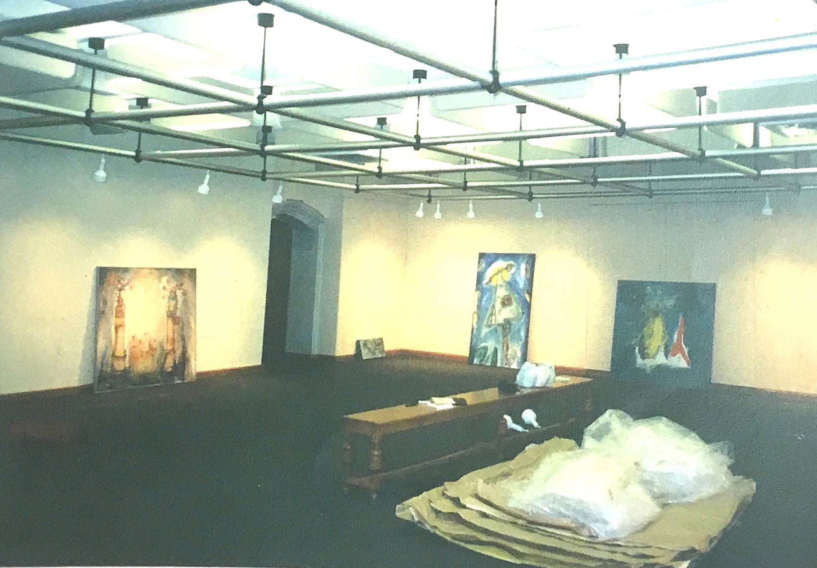 Installation-1-Out-of-the-Blue-Justine-Barnike-Gallery-Toronto-Ont.-1988