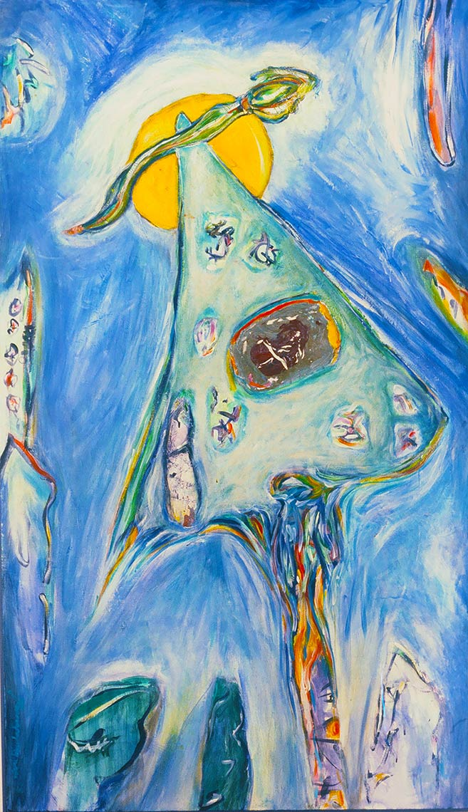 Out-of-the-Blue-1986-Acrylic-on-canvas-68-x-39.5
