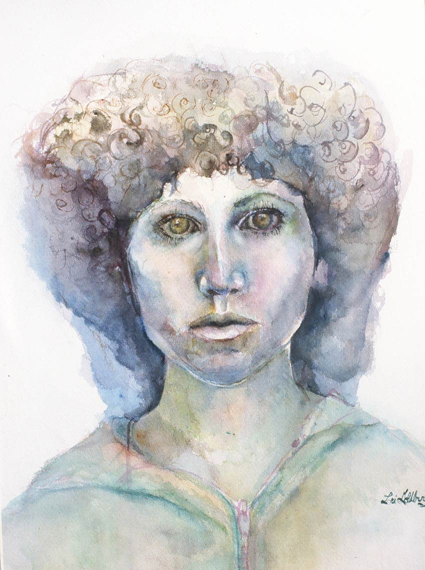 Self-Portrait-1978-Watercolor-on-rag-paper-30-x-22