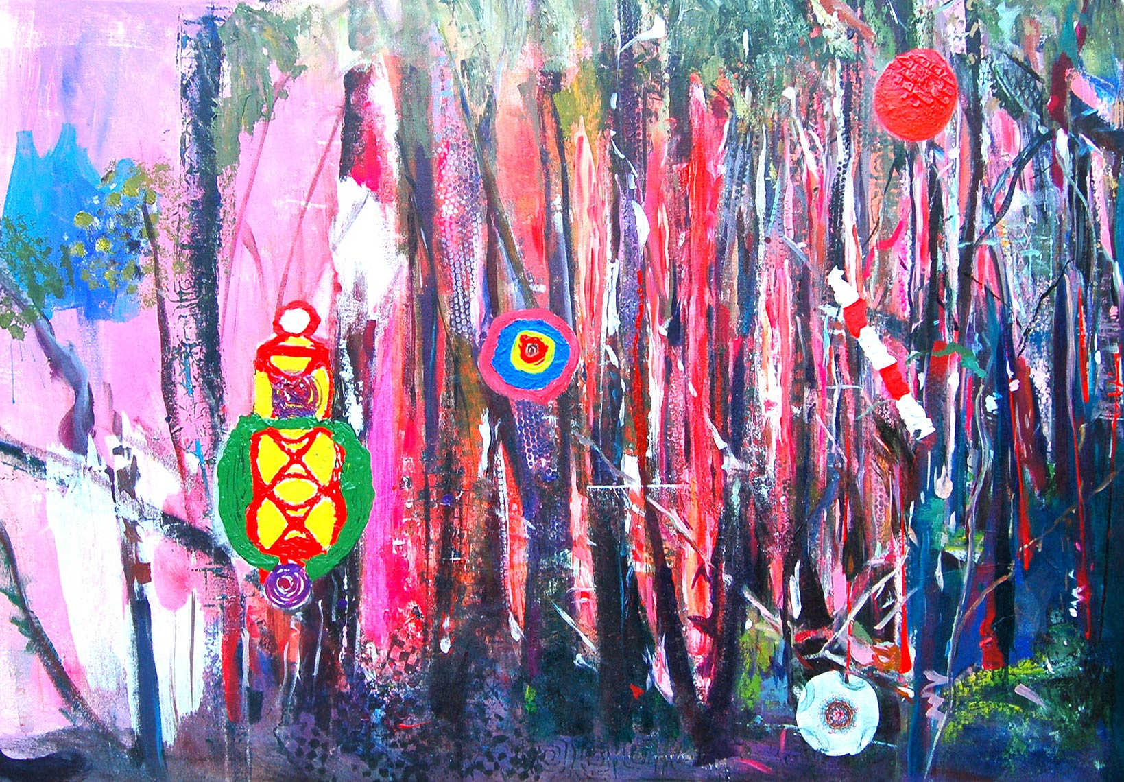UrbanForest-2015-Acryic-on-canvas-60-x-100