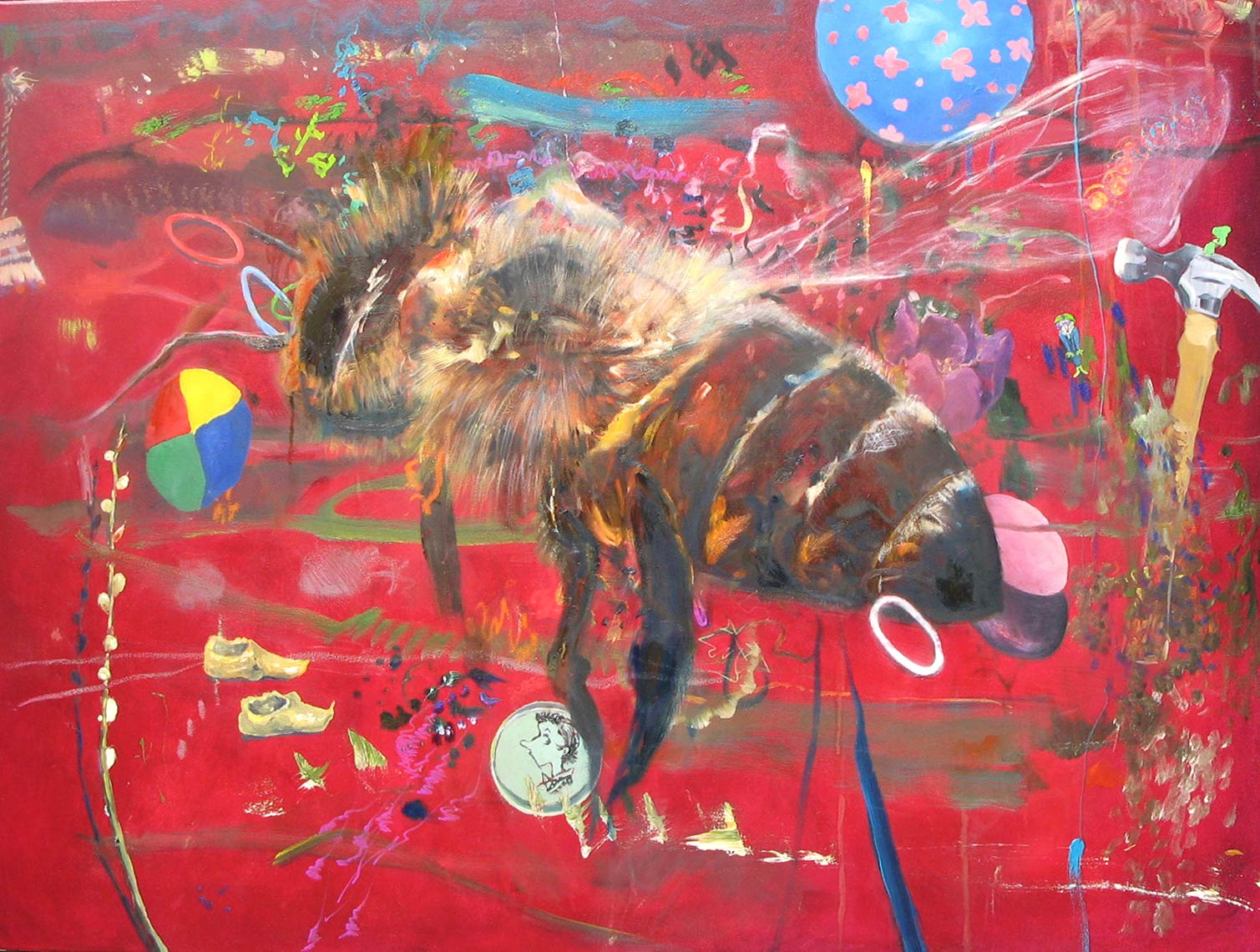 WhereHaveAlltheBeesGone-2010-Oil-on-canvas-40-x-30